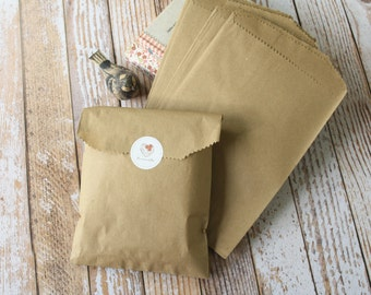 Small Plain Brown KRAFT paper giftwrap merchandise bags