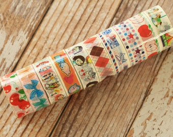 Cartoon & Deco mini tape 10 pc set - 5s Series 6