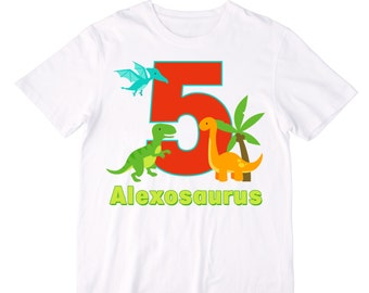 Personalized Dinosaur Birthday Shirt or Bodysuit - Personalized with ANY Name and Age