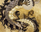 Vance's Dragon hand embellished limited edition canvas prints