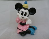 Chippy Flaky Minnie Mouse Figurine Vintage Disney Productions, Japan Made