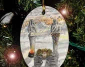 Winter Solstice/Yule card from The Hidden Path, Car Charm / Ornament