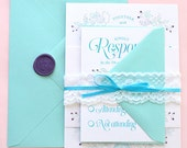 Chantilly Invitation Suite - SAMPLE ONLY (Price shown is not per unit price for full order, see description)