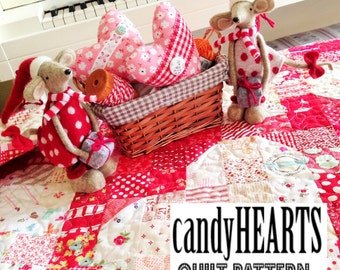 candyHEARTS quilt pattern by emily ann's kloset
