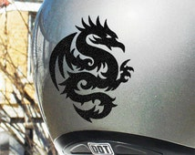 Tribal Dragon Hyper Reflective Decal / Motorcycle Helmet Safety Sticker / Reflective Safety Vinyl Decal / Tribal Dragon Decal #303R