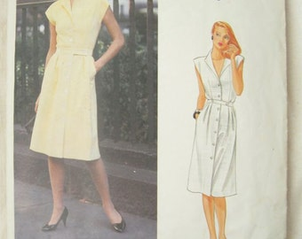 Vogue 2684 American Designer Adele Simpson Shirtdress Vintage Sewing Pattern Bust 34