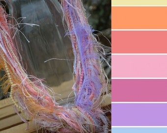 FIBER NECKLACE: Tea Rose, Lavender, Pink, Soft, Flower, Jewelry, Women, Accessory