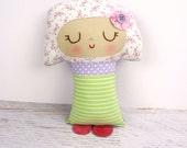 Abbie Mushroom doll, handmade doll, woodland softie, mushroom toy, mushroom room decor