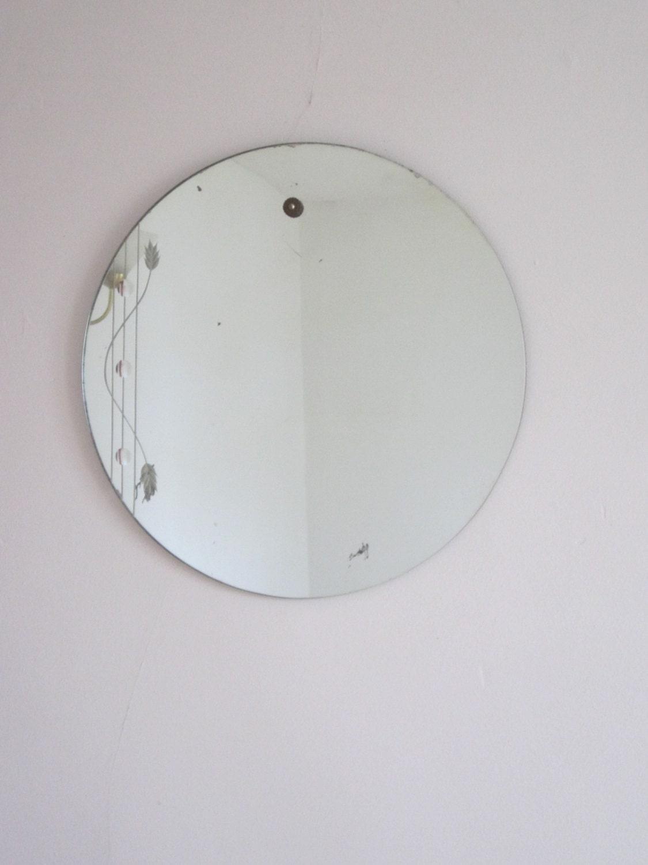 ann es 1920 rond grav deco miroir sans cadre
