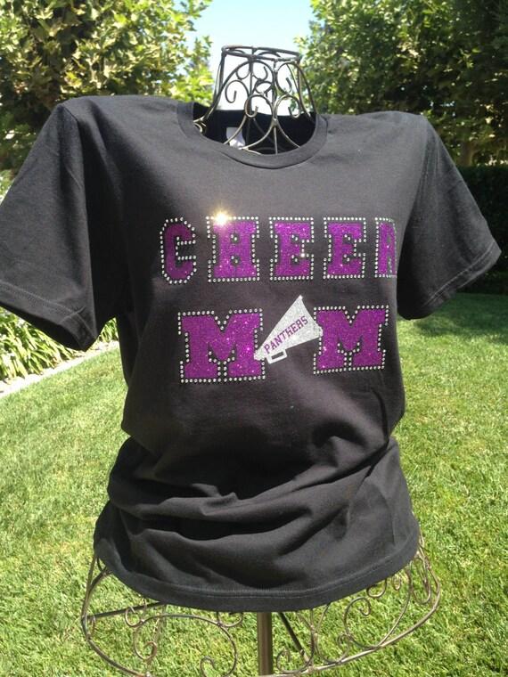 Custom Cheer Mom Tshirt Team Spirit Shirt Glitter Cheer
