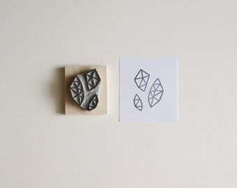 Crystal Configuration 07 - Hand Carved Stamp