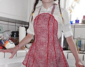 Handmade Vintage-style Country Check Apron