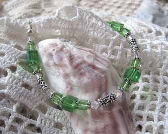 Light Emerald Green Swarovski Crystal Bracelet