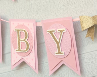 pink and gold, baby shower, decoration, baby girl banner,sweet baby banner,sweet baby girl, girl baby shower, banner, baby shower decor