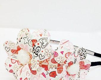 Smooches Double Daisy Paper Mache Headband