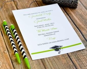 Graduation Cap Invitations or Announcements / Class of 2016 / Graduation Party Invitation / Graduation Announcement / Grad Party Invite