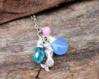 Mermaid Necklace made in Hawaii - Hawaiian Jewelry by Mermaid Tears - Mermaid Jewelry from Hawaii Nautical Hawaii Necklace for Beach Brides