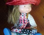 Holly Hobbie- like Dolls, Vintage Miniature