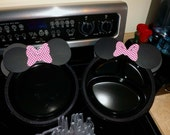 Mickey Mouse & Minnie Mouse DIY Ears for Party Plates - Minnie Mouse Bow of Choice