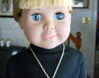 Necklace for American Girl Goldtone Locket with Chain for 18 inch Dolls