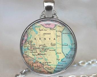 Kenya map pendant, Kenya pendant, Kenya necklace adoption pendant, adoption jewelry, Kenya keychain key chain