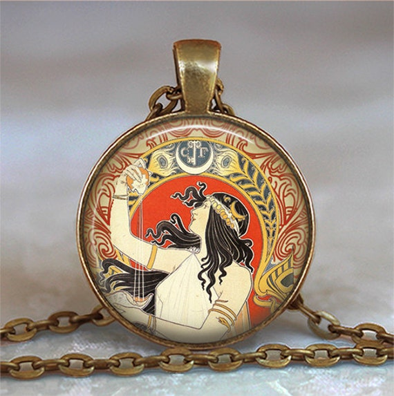 Gypsy Fortune Teller pendant, Gypsy necklace, resin pendant, Gypsy jewelry, Steampunk gypsy, Gypsy jewelry, key chain keychain