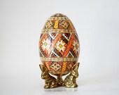 Traditional Goose Egg Pysanka ukrainian Easter egg ~ decorated egg shells, batik art, mother's day gifts, Christmas gift for teachers