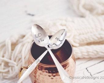 LOVE and I Love You - Coffee Spoon Set for Lovers this Valentine's Day