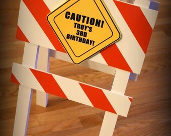 Construction Sign - Personalized Barricade Birthday Party Sign - Construction Birthday Party Decor