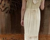 Tea Dyed Wedding Dress, OOAK Wedding Dress, Eco Wedding Dress, Bohemian, Hippie, Alternative, Simple, Romantic, Rustic, Tattered