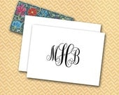 Classic Monogram Note Cards, Personalized Traditional Monogram, Intertwined Initials, Elegant Custom Stationery, MADE TO ORDER, Bride