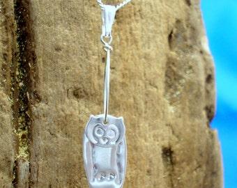 Owl Necklace, Silver, Owl pendant, Handmade, Owl Jewellery, Wildlife Jewellery, Wildlife gift, Bird jewelry, Owls, Animal Jewelry, Owl Gift