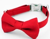 Bow Tie Dog Collar - Red