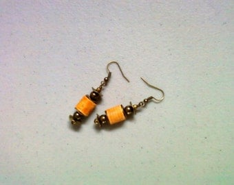 Tangerine Orange Earrings (1465)