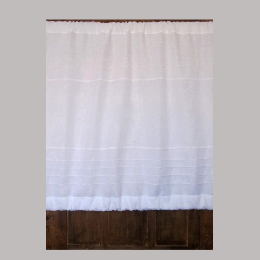 Cabinet Panel White Sheer Linen Panel Rod By Linenandletters