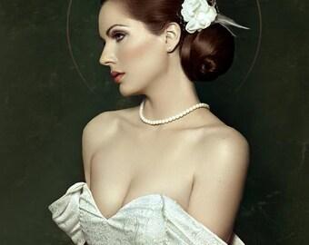 Julia - Bridal hairpiece fascinator