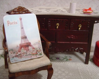 Miniature Dollhouse Eiffel Tower Sign One Inch Scale 1:12