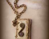 Earth Magic Mini Book Grimoire Spell Book Necklace  by Dryw on Etsy