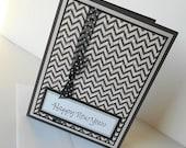 New Years Day Greeting Cards:  Handmade Blank Note Card - Wool Socks