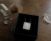 Reserved for Andreas - Sator Square amulet, Magic Square. Bespoke, custom piece (sterling silver, your choice between SATOR and ROTAS)