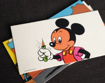Mickey fire-fighter. Vintage educative Disney picture game.