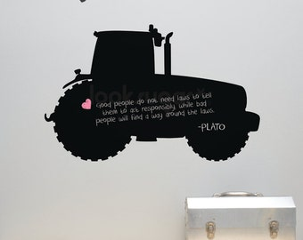 Tractor Chalkboard Decal - Farmhouse Wall Sticker - A0018