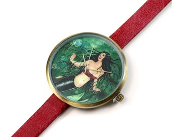 Limited Edition Art Watch - Pearl Mermaid Art Watch