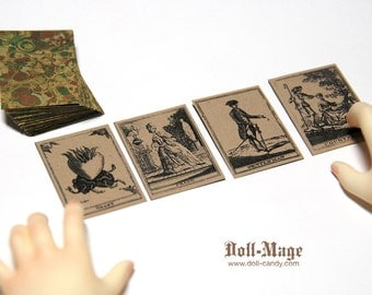 Antique Style Fortune Telling Cards for SD BJD