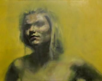 Yellowcake II, Original Oil Painting