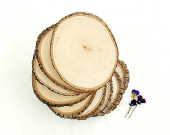 Lot of 25 Wooden Tree Slice Centerpieces Personalized Wedding Decorations Wooden Rounds