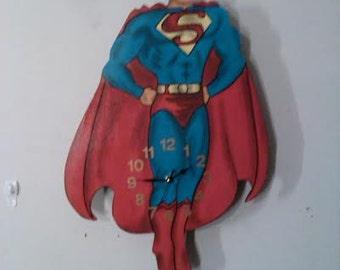 Superman/ Superheros children's pendulum clock