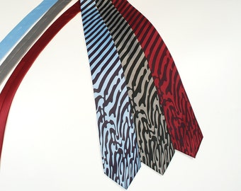 Melting Stripes Necktie - Men's Tie - Men's Gift - Striped Tie - Unique Men Gifts - Odd Strange Weird