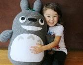 Extra Large Crochet Totoro - My Neighbor Totoro -  MADE TO ORDER