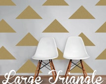Large Triangle Wall Decals, Geometric Wall Design, Customize Nursery and Interior Walls WAL-GEO5